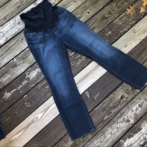 Indigo Blue Full Panel Boot Cut Maternity Jeans
